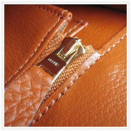 Hermes Constance Shoulder Bag Orange Gold