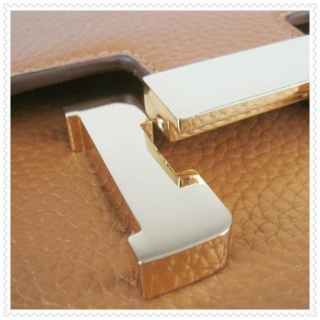 Hermes Constance Shoulder Bag Light Tan Gold