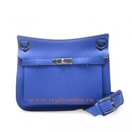 Hermes Jypsiere 28cm Togo Leather Shoulder Bag Sky Blue Silver