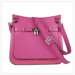Hermes Jypsiere 34cm Leather Shoulder bag peach silver