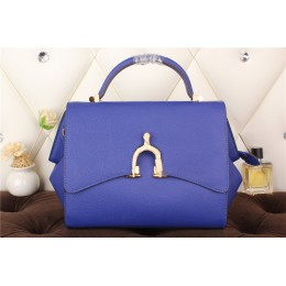 New Arrives Hermes 8065 Calf Leather Mini Top Handle Bag - Blue