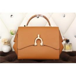 New Arrives Hermes 8065 Calf Leather Mini Top Handle Bag - Coffee