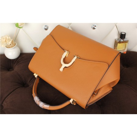 New Arrives Hermes 8065 Calf Leather Mini Top Handle Bag - Coffee