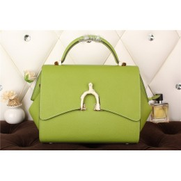 New Arrives Hermes 8065 Calf Leather Mini Top Handle Bag - Green