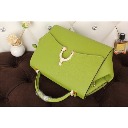 New Arrives Hermes 8065 Calf Leather Mini Top Handle Bag - Green