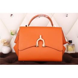 New Arrives Hermes 8065 Calf Leather Mini Top Handle Bag - Orange