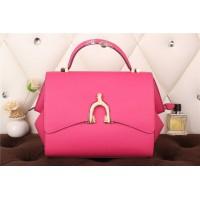 New Arrives Hermes 8065 Calf Leather Mini Top Handle Bag - Peach Red