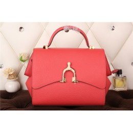 New Arrives Hermes 8065 Calf Leather Mini Top Handle Bag - Red