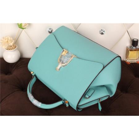 New Arrives Hermes 8065 Calf Leather Mini Top Handle Bag - light Blue