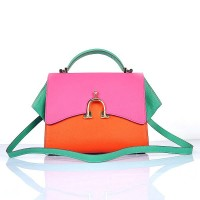 Hermes Stirrup Mini Orange and Top Handle Peach Green Bag