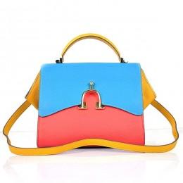 Hermes Stirrup Mini Red& Top Handle Blue Yellow Bag
