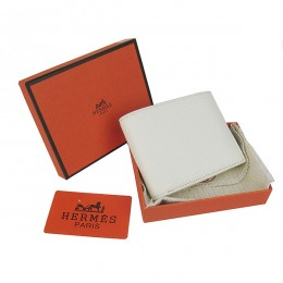 Hermes H014 Mini short Wallet Off White