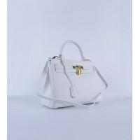 Hermes Kelly 28Cm Togo Leather Handbag White Gold