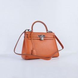 Hermes Kelly 28Cm Togo Leather Orange Silver