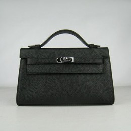 Hermes Kelly 22Cm Handbag Black