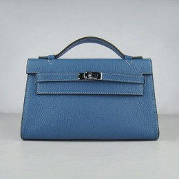 Hermes Kelly 22Cm Handbag Blue