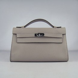 Hermes Kelly 22Cm Handbag Grey