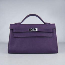Hermes Kelly 22Cm Handbag Purple
