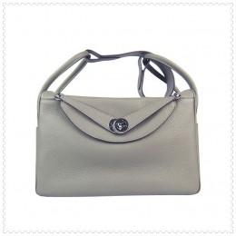 Hermes Lindy Handbag Grey