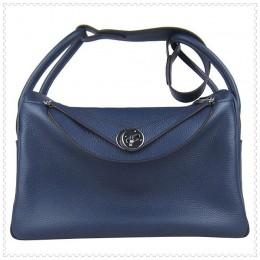 Hermes Lindy Handbag Mazarine