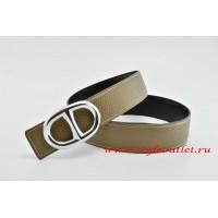 Hermes Anchor Chain Leather Reversible Gray/Black Belt 18k Silver Buckle