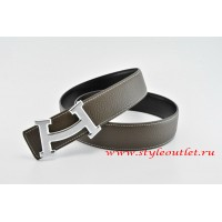Hermes Fashion H Leather Reversible Brown/Black Belt 18k Silver Buckle
