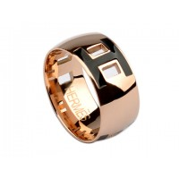 Hermes Enamel H Ring in 18kt Pink Gold with Black