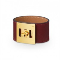 Hermes Kelly Dog Coffee Bracelet With Gold